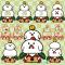 酉年用鏡餅イラスト / 鶏とヒヨコで