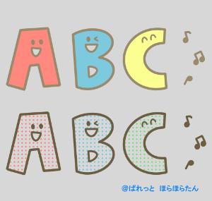 かわいいアルファベットのABCイラスト