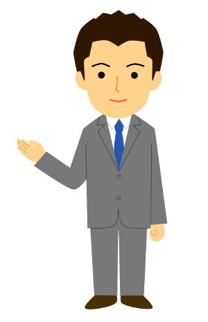 ビジネスポーズイラスト/案内・紹介・説明・ようこそ/短髪ver