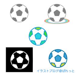 サッカーボールの透過イラスト