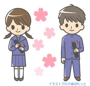 桜背景卒業イラスト