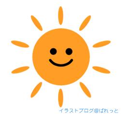 晴れた日の太陽のイラスト