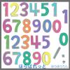 かわいい手書き数字・番号イラスト / カラフルでポップなナンバー