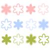 花の装飾マークイラスト / シンプル&パステルカラー