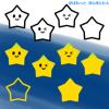 お星さまイラスト(スター) / 夜空に浮かぶかわいいキラキラ星