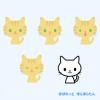 トラ猫のイラスト / ペット(飼い猫)の4つの表情イラスト