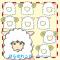 デジカメ加工に羊の被り物イラスト / ユニーク編集素材