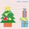 クリスマスツリーとクリスマスプレゼントのイラスト / ワンポイント挿絵