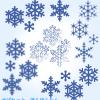 雪の結晶イラスト(透過パーツ4種類×5パターン) / 冬のヘビロテ素材