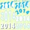 2014年年賀状デザインに / 年号透過装飾文字、もこもこでおしゃれに