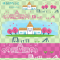 幼稚園・保育園の園舎イラスト / 春の広報、園だよりに