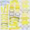 見出しタイトルリボン素材3 / 黄色系テープ枠