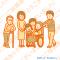 福祉・介護関係、家族のイラストの依頼 / 車椅子のおばあさん・杖のおじいさん